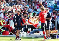 Fotball , 11. juni 2013 , Privatkamp , Norge - Makedonia<br /> Norway - FYR Macedonia<br /> <br /> Per Ciljan Skjelbred , Norge og trener Egil Olsen , Norge