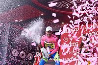 Podium, CONTADOR Alberto (ESP) Tinkoff Saxo Bank, Pink Leader Jersey during the Giro d'Italia 2015, Stage 5, La Spezia - Abetone (152Km) on May 13, 2015. Photo Tim de Waele / DPPI