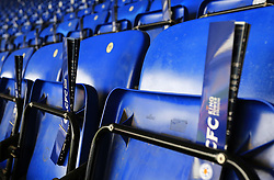 Paper clappers are left on the seats at The King Power Stadium - Mandatory by-line: Paul Roberts/JMP - 23/09/2017 - FOOTBALL - King Power Stadium - Leicester, England - Leicester City v Liverpool - Premier League