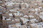 An aerial view of the city of Tarim, Hadhramawt, Yemen.