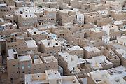 An aerial view of the city of Tarim, Hadhramawt, Yemen.