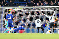 John Terry, the Chelsea captain (26) scores an own goal to put Everton up 0-1. Barclays Premier league match, Chelsea v Everton at Stamford Bridge in London on Saturday 16th January 2016.<br /> pic by John Patrick Fletcher, Andrew Orchard sports photography.