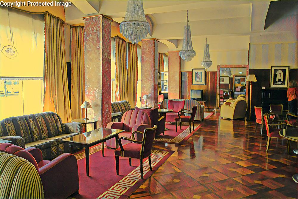 Hotel Lobby in Coimbra Portugal Portugal