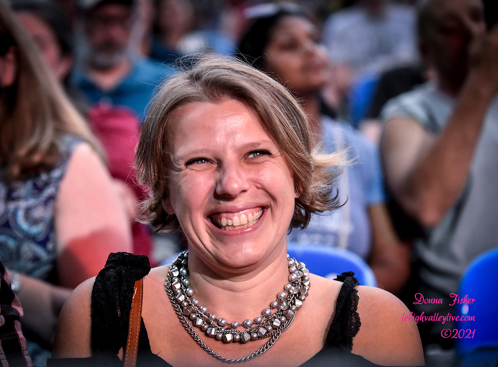 Preservation Hall Jazz Band, Christine Havrilla and Hector Rosado perform at Wind Creek Steel Stage on August 7, 2021. Musikfest, a festival of ArtsQuest, is held August 6 –15, 2021 in Bethlehem, Pa..