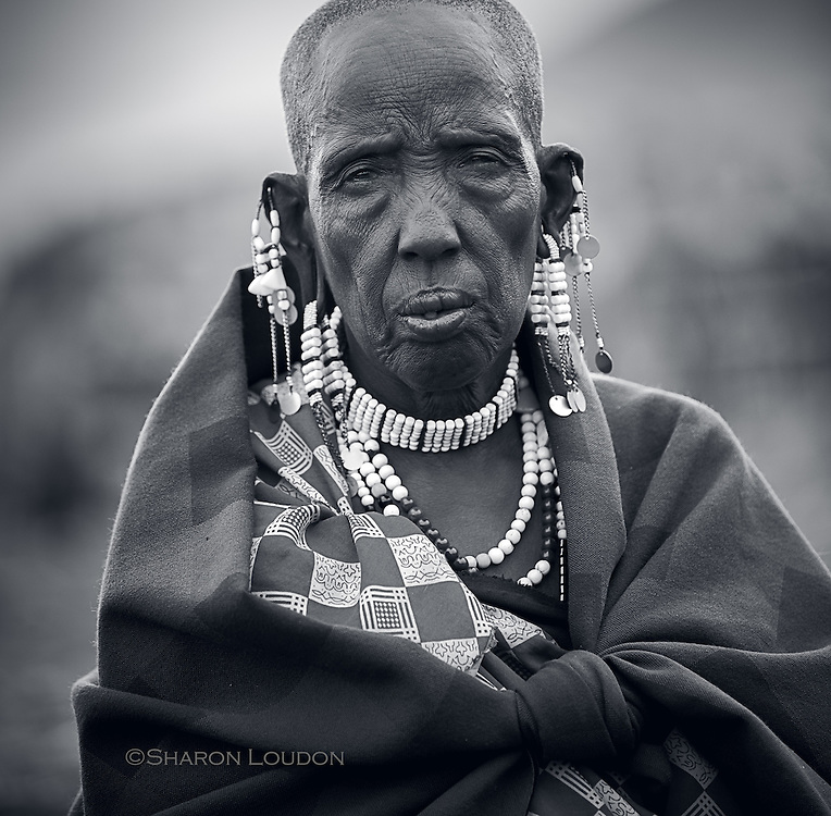 Wisdom shows on the face of a Maasai woman