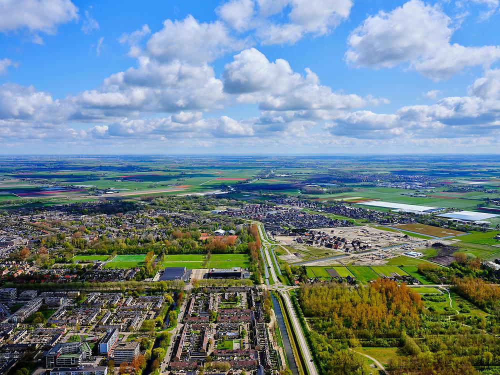 Nederland, Noord-Holland, Heerhugowaard, 07-05-2021; Heerhugowaard. Oosttangent met zicht op Schilderswijk en Waarderhout.<br /> <br /> luchtfoto (toeslag op standard tarieven);<br /> aerial photo (additional fee required)<br /> copyright © 2021 foto/photo Siebe Swart