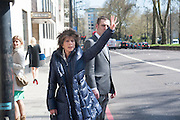 FELICITY WALEY-COHEN, Leaving The Seventh Annual Foreign Sisters Lunch in aid of Cancer Research UK. . The Dorchester 53 Park Lane. London. 1 May 2013.