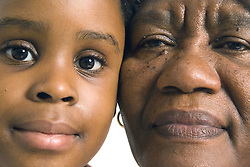 Grandmother with her granddaughter,