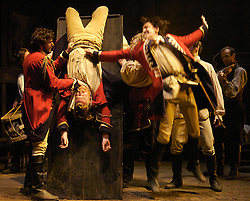 I'll Be The Devil<br /> by Leo Butler<br /> at the Tricycle Theatre, London, Great Britain<br /> press photocall<br /> 26th February 2008<br /> <br /> <br /> Edward Macliam (as Captain Farrell)<br /> JD Kelleher (as Captain Skelton)<br /> Colm Gormley (as Lance Corporal Finnigan)<br /> Gerard Murphy (as Sergeant Brown)<br /> <br /> Photograph by Elliott Franks
