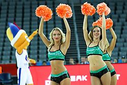 08-09-2015 CRO: FIBA Europe Eurobasket 2015 Slovenie - Nederland, Zagreb<br /> De Nederlandse basketballers hebben de kans om doorgang naar de knockoutfase op het EK basketbal te bereiken laten liggen. In een spannende wedstrijd werd nipt verloren van Slovenië: 81-74 / Cheerleaders. Photo by Matic Klansek Velej / RHF