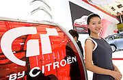 France's Citroen automaker's booth during Shanghai Motor Show, in Shanghai, China, on April 20, 2009. Shanghai auto show opened Monday for the press and will be open April 24-28 for the public. China is the only major auto market still growing despite the global economic slowdown. U.S. and global auto makers see China as the place where they can find the sales they desperately lack in their home market. Chinese automakers see the opportunity to assess themselves as major players in the world market. Photo by Lucas Schifres/Pictobank