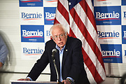 Bernie Sanders Speaking at a Press Conference at Santa Ana Valley High School