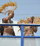 Jeremy Meeks, Chloe Green Outside the Barbados National Stadium on Krave The Band Truck, Jeremy Meeks and Chloe Green participating in Crop Over 2017 (also known as Kadooment) In Krave the band.<br /> ©Keolyn Smith/Exclusivepix Media