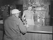 Y-501108-09.  Coffee shop in Timberline Lodge. November 8, 1950