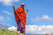 Kenya, Masai Mara, Masai (Also Maasai) Tribesman an ethnic group of semi-nomadic people