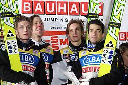 29.01.2011, Mühlenkopfschanze, Willingen, GER, FIS Skijumping Worldcup, Team Tour, Willingen, im Bild THOMAS MORGENSTERN MARTIN KOCH GREGOR SCHLIERENZAUER ANDREAS KOFLER// during FIS Skijumping Worldcup, Team Tour, willingen, EXPA Pictures © 2011, PhotoCredit: EXPA/ Newspix/ JERZY KLESZCZ +++++ATTENTION+++++ - FOR AUSTRIA (AUT), SLOVENIA (SLO), SERBIA (SRB) an CROATIA (CRO), SWISS SUI and SWEDEN SWE CLIENT ONLY