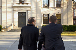Turkish Ambassador to the United States, His Excellency Namik Tan visit to Yale University. Walking across Hewitt Quadrangle to Woodbridge Hall | 6 December 2012