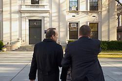 Turkish Ambassador to the United States, His Excellency Namik Tan visit to Yale University. Walking across Hewitt Quadrangle to Woodbridge Hall | 6 December 2012