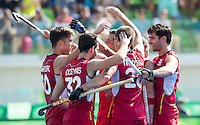 RIO DE JANEIRO  (Brazilië) -  Cédric Charlier (Belg.) has scored 4-1, during the poule match hockey men Belgium v Great Britain (4-1),   Olympic Games 2016 . Copyright Koen Suyk