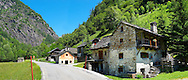 Traditional stone and timber house - Lavizzara, Vallemaggia, Ticino, Switzerland