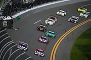 January 27-31, 2016: Daytona 24 hour: Start of the 54th Rolex 24, #28 Rolf Ineichen, Lance Willsey Franz Konrad, Fabio Babini, Marc Basseng, Konrad Motorsport, Lamborghini Huracán GT3