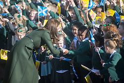 Duchess of Cambridge leaving St Catherine's Primary School.