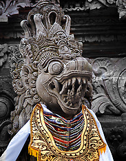 Stonecarvings, Pura Dalem, Ubud, Bali