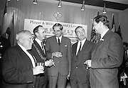 17/08/1967<br /> 08/17/1967<br /> 17 August 1967<br /> Player and Wills (Ireland) Ltd. give development grant to Cork Film Festival at Player and Wills headquarters, South Circular Road, Dublin. Picture shows Mr. Frank O'Reilly, (centre), Chairman, chatting with from left; Mr. A.A. Healy, T.D., Chairman Cork Film Festival; Mr. A.A. Healy, T.D., Chairman Cork Film Festival; Alderman Pearse Wyse T.D., Lord Mayor of Cork; Mr Dermot Breen, Director, Cork Film Festival and Mr. Roger W. Byers, Secretary, Player and Wills (Ireland) Ltd. at the reception.