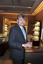 The EARL OF CARNARVON at the unveiling of 'The Diamond Queen' a collaboration between Asprey and artist Chris Levine in aid of The Woodland Trust, held at Asprey, 167 New Bond Street, London on 28th May 2012.