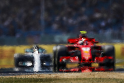 July 6, 2018 - Silverstone, Great Britain - Motorsports: FIA Formula One World Championship 2018, Grand Prix of Great Britain, ..#7 Kimi Raikkonen (FIN, Scuderia Ferrari), #44 Lewis Hamilton (GBR, Mercedes AMG Petronas Motorsport) (Credit Image: © Hoch Zwei via ZUMA Wire)