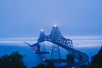The Astoria–Megler Bridge is a steel cantilever through truss bridge that spans the Columbia River between Astoria, Oregon and Point Ellice near Megler, Washington, in the United States. Astoria, Oregon.