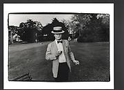 CHARLES HOLLIS, Stephen Cranston 21st. drinks. Trinity Gardens, Trinity college. Oxford. June 1983.