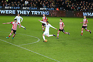 Gylfi Sigurdsson of Swansea city © lines up for a shot at goal.  Premier league match, Swansea city v Southampton at the Liberty Stadium in Swansea, South Wales on Tuesday 31st January 2017.<br /> pic by  Andrew Orchard, Andrew Orchard sports photography.