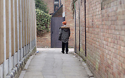 © Licensed to London News Pictures 04/05/2004.A child walks through a passage way in Craylands estate, an impoverished council estate in Basildon, Essex..Basildon, UK.Photo credit: Anna Branthwaite