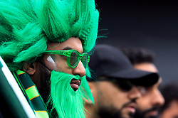 A Pakistan fan in the stands as they wait for the start of play during the ICC Cricket World Cup group stage match at Edgbaston, Birmingham.