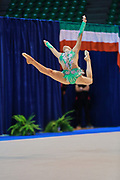 Federica Pettinelli atleta della società Armonia D'Abruzzo durante la prova di Desio del Campionato Italiano di Ginnastica Ritmica.<br /> La gara si è svolta il 31 ottobre 2015.