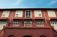 """Melaka Stadthuys was constructed in 1650 as the residence of the Dutch Governor and his deputy, the structure reflects Dutch architecture and is today the """"Museum of History and Ethnography"""". The museum exhibits traditional wedding clothes and artefacts of Melaka, dating back to its days of glory."""
