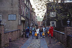 Tourists At Elfreths Alley