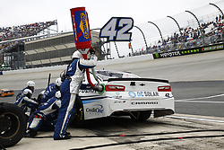 May 6, 2018 - Dover, Delaware, United States of America - Kyle Larson (42) comes down pit road for service during the AAA 400 Drive for Autism at Dover International Speedway in Dover, Delaware. (Credit Image: © Justin R. Noe Asp Inc/ASP via ZUMA Wire)