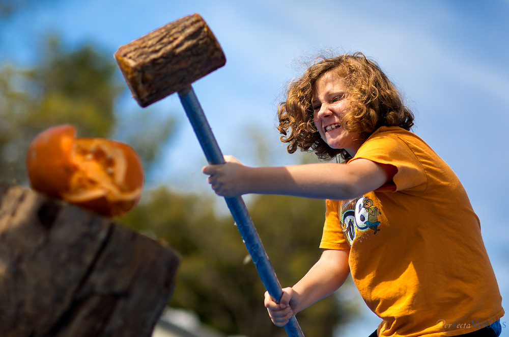 Quaker Lake Camp's 2017 Pumpkin Festival.<br /> <br /> Michaela Palmer, 7, of Julian, NC<br /> <br /> Photographed, Saturday, October 21, 2017, in Greensboro, N.C. JERRY WOLFORD  / Perfecta Visuals