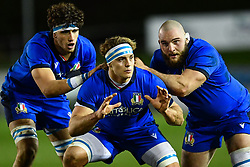 Lorenzo Cannone of Italy prepares to receive the all<br /> <br /> Photographer Craig Thomas/Replay Images<br /> <br /> U20 Six Nations - Wales v Italy  - Friday 31st January 2020 - Stadiwm Zip World (Parc Eirias) - Colwyn Bay<br /> <br /> World Copyright © Replay Images . All rights reserved. info@replayimages.co.uk - http://replayimages.co.uk
