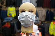 Face masks on sale for protection against Coronavirus on 14th March 2020 in Birmingham, England, United Kingdom. Due to the rapidly spreading coronavirus outbreak a number of mainly Chinese / Asian people are wearing face masks in public. Coronavirus or Covid-19 is a new respiratory illness that has not previously been seen in humans. While much or Europe has been placed into lockdown, the UK government is due to announce more stringent rules as part of their long term strategy.