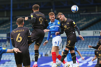 Football - 2020 / 2021 Sky Bet League One - Portsmouth vs. MK Dons<br /> <br /> Portsmouth's Tom Naylor head Pomepey into the lead at Fratton Park <br /> <br /> COLORSPORT/SHAUN BOGGUST