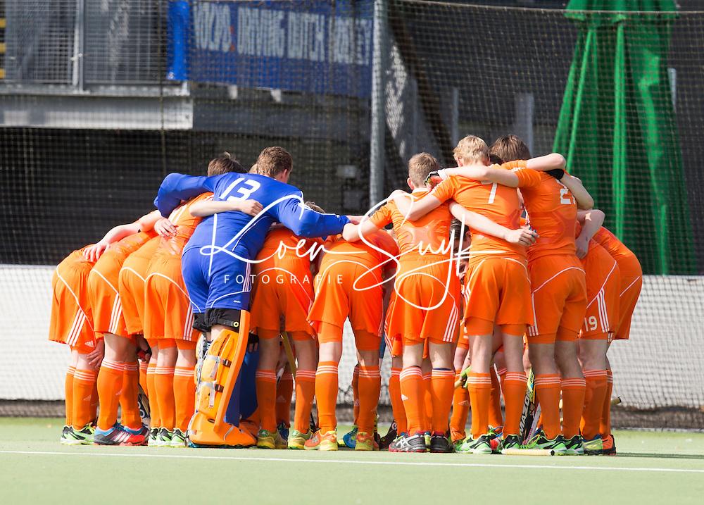AMSTELVEEN - Nederlands Jongens B. Oefenwedstrijd tussen het Nederlands Team Jongens B tegen Bloemendaal A1. COPYRIGHT KOEN SUYK