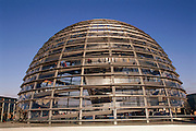 Berlin, Germany. Outside view of the cupola of the Reichstag, Germany's Parliament.