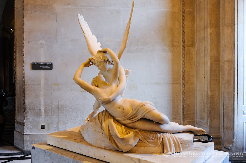Paris, France. The Musée du Louvre is one of the world's largest museums and the most visited art museum in the world.