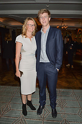 KATE HOBHOUSE Chairman of Fortnum & Mason and her son JACK HOBHOUSE at a party hosted by Ewan Venters CEO of Fortnum & Mason to celebrate the launch of The Cook Book by Tom Parker Bowles held at Fortnum & Mason, 181 Piccadilly, London on 18th October 2016.