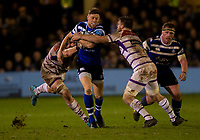 Bath Rugby's Rhys Priestland in action during todays match<br /> <br /> Photographer Bob Bradford/CameraSport<br /> <br /> Gallagher Premiership Round 11 - Bath Rugby v Leicester Tigers - Sunday 30th December 2018 - The Recreation Ground - Bath<br /> <br /> World Copyright © 2018 CameraSport. All rights reserved. 43 Linden Ave. Countesthorpe. Leicester. England. LE8 5PG - Tel: +44 (0) 116 277 4147 - admin@camerasport.com - www.camerasport.com