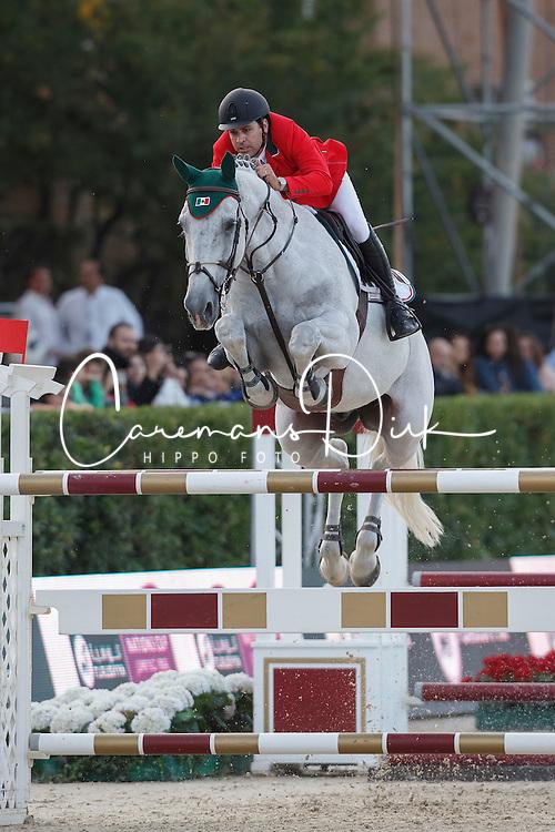 Lambre Santiago, (MEX), Johnny Boy <br /> First Round<br /> Furusiyya FEI Nations Cup Jumping Final - Barcelona 2015<br /> © Dirk Caremans<br /> 24/09/15