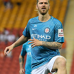 BRISBANE, AUSTRALIA - OCTOBER 30: Luke Brattan of Melbourne warms up before the round 5 Hyundai A-League match between the Brisbane Roar and Melbourne City at Suncorp Stadium on November 4, 2016 in Brisbane, Australia. (Photo by Patrick Kearney/Brisbane Roar)
